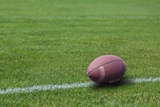 American Rugby Ball on the Grass Photographic Print by  Olexandr