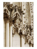 Gothic Cathedral Stone Detail Art