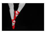 Ballet Dancer Standing on Toes - Birinci Sınıf Giclee Baskı