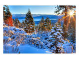 Sunrises Over Lake Tahoe CA Posters