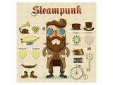 Steampunk Collage Posters