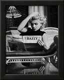 Marilyn Monroe Reading Motion Picture Daily, New York, c.1955 Posters by Ed Feingersh