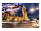 Westminster & Big Ben By Night Prints