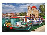 Idyllic Greek Island Aegina Posters