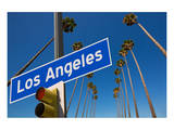 Los Angeles CA Road Sign Posters