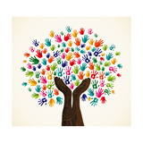 Colorful Solidarity Design Tree Prints by  cienpies