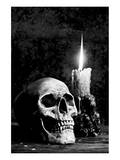 Skull Candle Black & White Art