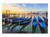 Venice Gondolas Sunrise Italy Print