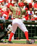 Joey Votto 2008 Batting Action Photo