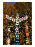Totems Stanley Park Vancouver Print