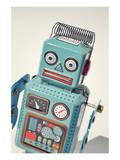 Vintage Tin Toy Robot Print
