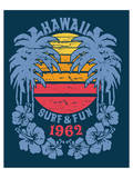 Hawaii Surf and Fun Artwork Prints