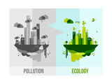 Green Environment Concept Illustration Posters by  cienpies