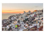 Sunset Oia - Santorini Greece Poster