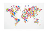 Diverstiy People Concept World Map Prints by  cienpies