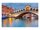 Rialto Bridge at Dusk Venice Posters