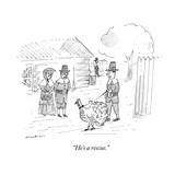 """He's a rescue."" - New Yorker Cartoon Premium Giclee Print by Michael Maslin"