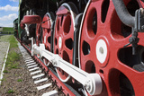 Wheels and Coupling Devices of A Big Locomotive Photographic Print Sever180