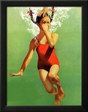 Dukket under vandet, 9. august 1941 Indrammet giclee-tryk af John Hyde Phillips