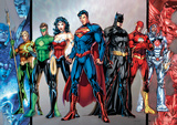 DC Comics - Group Foil Poster Prints