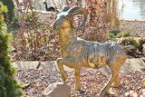 Golden Goat Statue. Chinese New Year 2015. Photographic Print by  vivairina