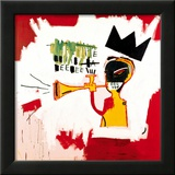 Trompette, 1984 Estampe encadrée par Jean-Michel Basquiat