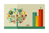 Green City Concept Prints by  cienpies
