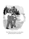 """Can't Yelp rate dry cleaners in order of how good they keep their mouth s…"" - New Yorker Cartoon Premium Giclee Print by Emily Flake"