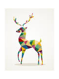 Merry Christmas Trendy Abstract Reindeer Eps10 File. Prints by  cienpies