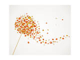 Fall Season Dandelion Tree Leaves Composition Background Eps10 File. Prints by  cienpies