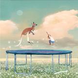 Jumping With Kangaroo Fotografisk tryk af Nancy Tillman