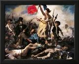 Frihet leder folket, 28. juli 1830 Innrammet Giclee-trykk av Eugene Delacroix