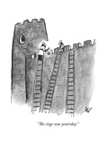 """The siege was yesterday."" - New Yorker Cartoon Premium Giclee Print by Frank Cotham"