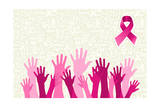 Global Breast Cancer Awareness Campaign Prints by  cienpies
