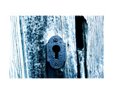 Old Bluish Lock Photographic Print by Erwann Morel