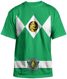 Power Rangers - Green Ranger Uniform Costume Tee Vêtement