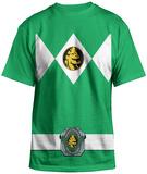 Power Rangers - Green Ranger Uniform Costume Tee T-paita