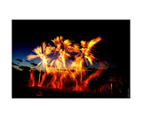 Wallgoldfireworks Photographic Print by Erwann Morel