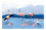 Flamingo Lesson Photographic Print by Nancy Tillman