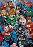 DC Comics - Collage Foil Poster Pôsters