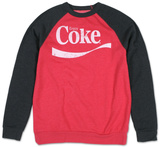 Long Sleeve: Coca Cola - Classic Swoosh Color Block (raglan) T-Shirt