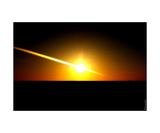 Eclipse Sunset Photographic Print by Erwann Morel
