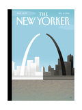 The New Yorker Cover - December 8, 2014 Regular Giclee Print by Bob Staake