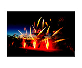 Gold Sabre Fireworks Photographic Print by Erwann Morel