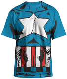 Captain America - Costume Tee T-Shirt
