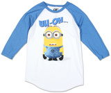 Long Sleeve: Despicable Me 2 - Blank Stare (Raglan) Raglans