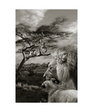 Lions Photographic Print by Christine Sponchia