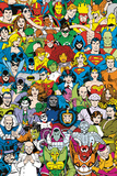 DC Comics - Retro Cast Kunstdruck