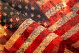 Distressed American Flag Vector Photographic Print by  markjay