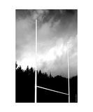Wood Rugby Posts Photographic Print by Erwann Morel